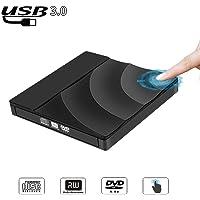 Unidad de DVD y CD Externa USB 3.0 Pop-up Mobile RW Player ROM Rewriter Rewriter Burner Reader Negro