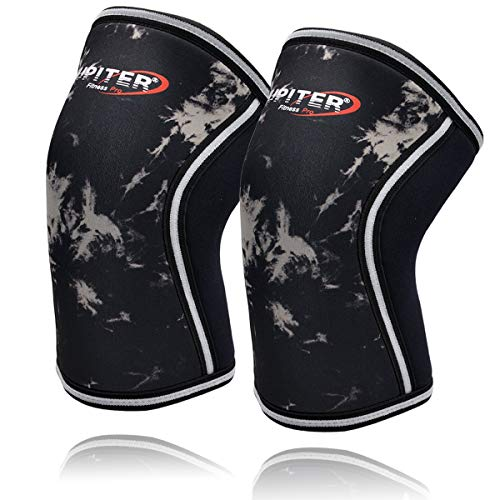 Jupiter Knee Sleeves (1 Pair), 7mm Compression Knee Braces for Squats,Weightlifting,Powerlifting,Cross Training for Men & Women