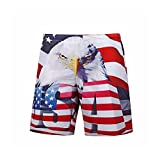 Men's Beach Shorts Casual Loose 3D Printing Large Size Five Points Shorts Fashion Casual Slim Breathable Quick- Dry Surf Shorts Summer 1, Size : M