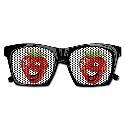 Cartoon Strawberry Mens/Womens Resin Sunglasses - Classic Full Frame - Png Vintage Frame