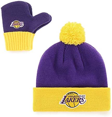 OTS NBA Toddler Pow Pow Knit Cap /& Mittens Set