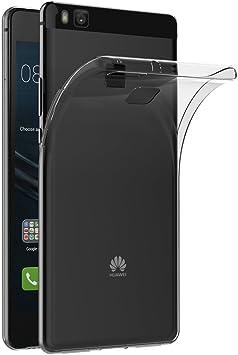 AICEK Coque Huawei P9 Lite, Etui Silicone Gel Huawei P9 Lite Housse Antichoc P9 Lite Transparente Souple Coque de Protection pour Huawei P9 Lite(5.2 ...