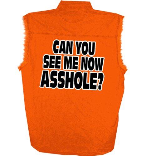 - Hot Leathers Bikers Against Dumb Drivers Sleeveless Denium Shirt (Safety Orange, XX-Large)