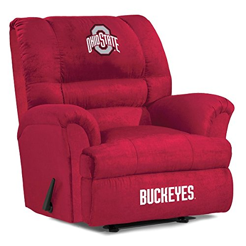 Imperial Officially Licensed NCAA Furniture: Big Daddy Microfiber Rocker Recliner, Ohio State Buckeyes