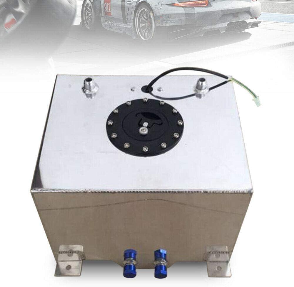 Kraftstofftank NEU 20L 5 Gallon Alu Kraftstofftank Renntank Motorsport Benzin LKW Tank Rallye mit /Ölstandsensor f/ür Rennwagen LKW SUVs Aluminium 0-90 Ohm
