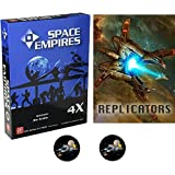 BUNDLE of Space Empires 4X Base Game Plus Replicators Expansion and 2 Space Fighter Buttons