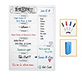"""weekly meal planner fridge - Magnetic Meal Planner With Grocery List for Refrigerator-Dry Erase Shopping List Board - Weekly Menu Whiteboard for Kitchen Fridge - 12""""x17"""