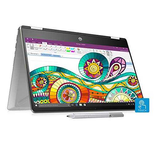 (Renewed) HP Pavilion x360 Core i3 8th Gen 14-inch Touchscreen 2-in-1 Thin and Light Laptop (4GB/256GB SSD/Windows 10/MS Office/Inking Pen/Natural Silver/1.59 kg), 14-dh0107TU