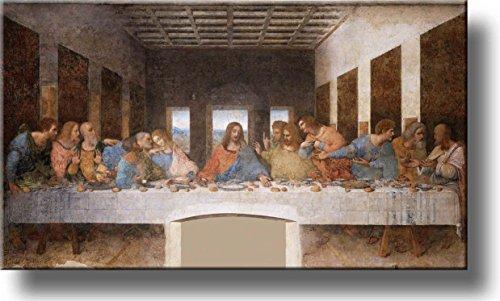 The Original Last Supper by Leonardo da Vinci Picture on Stretched Canvas, Wall Art Décor, Ready to Hang! (The Last Supper Leonardo Da Vinci Original)