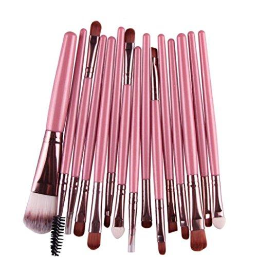 Han Shi Brushes, Fashion 15 pcs Eye Shadow Foundation Eyebrow Lip Makeup Brushes Tool Sets
