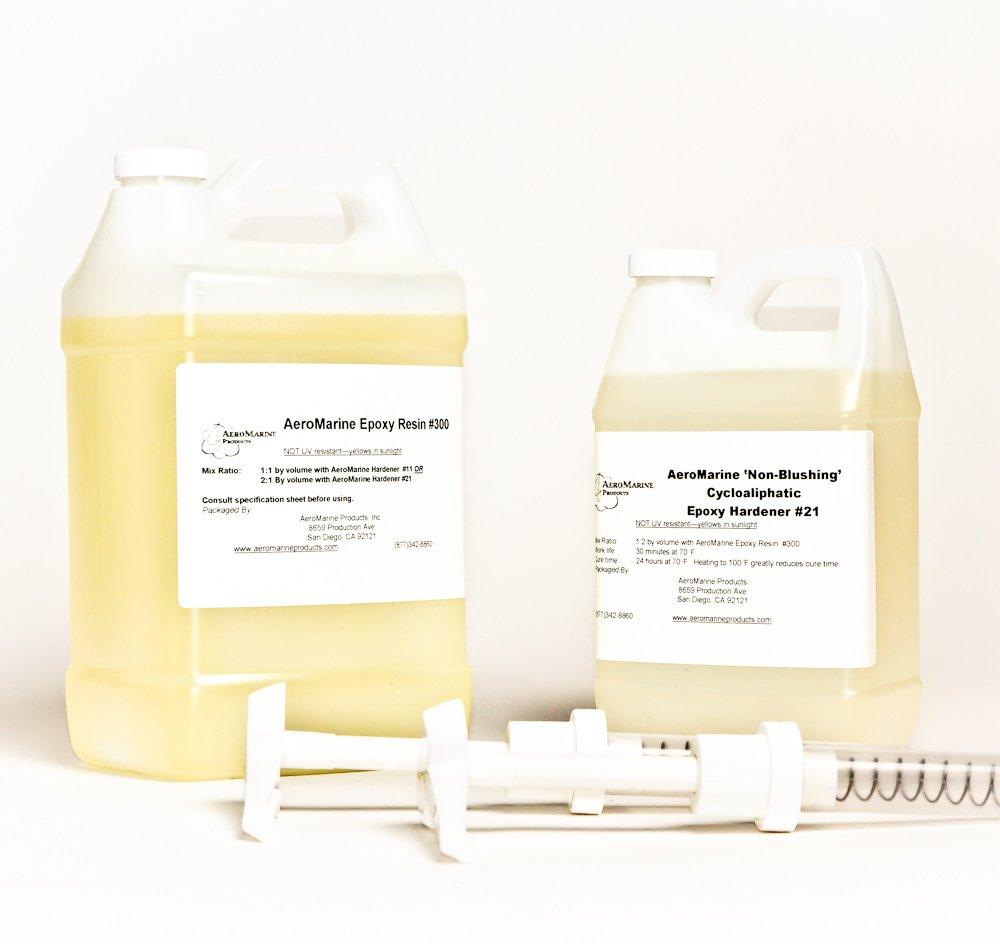 AeroMarine 300/21 Epoxy Resin 1.5 Gallon Kit with Pumps by AeroMarine Products