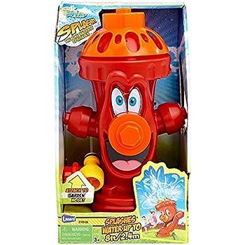 Kids Sprinkler Fire Hydrant, Attach Water Sprinkler for Kids to Garden Hose for Backyard Fun, Splash All Summer Long, Sprays Up to 8 Ft.(Red)