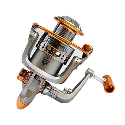 (Jinxuny Fishing Spinning Reel 12-Spindle Bearings Aluminum Fly Spinning Fishing Reels Fishing Tape Fishing Rod Wheel Saltwater Freshwater Speed Gear (Style : CF1000))