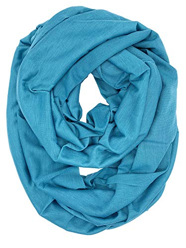 YOUR SMILE - Premium Women Thick Spring Autumn Winter Warm Cable Infinity Circle Loop Cowl Scarf,New/Teal