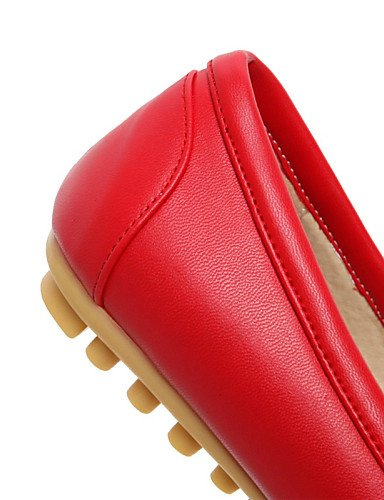 casual Uk8 rojo Punta Talón De Mujer blanco Carrera 5 Cn43 Negro Zapatos Redonda Flats vestido Eu42 Oficina Black de 5 us10 Plano Y Pdx ZqYO11