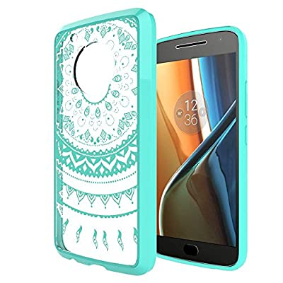 Moto G5 Plus Case, AnoKe [Scratch Resistant] Mandala Flower Cute Grils Woman Ultra Slim Acrylic Hard Cover TPU Bumper Hybrid Cover for Motorola Moto G Plus (5th Generation) TM by AnoKe