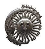Moon and Sun Metal Wall Hanging Art Home Living Decor 13.5″ x 15″ Review