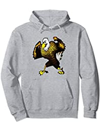 Cartoon Strong Contending Eagle Hoodie, Brave Eagle Cover Up