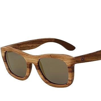 Z&YQGafas de sol marcos de madera hombres y mujeres personalidad gafas polarizadas , C