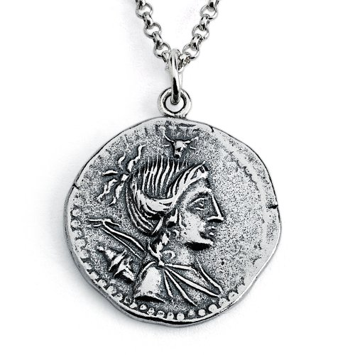 - Belcho USA 925 Sterling Silver Replica A. Postumius Albinus, Denarius Serratus Roman Coin Pendant Necklace (22 Inches)