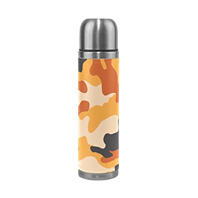 Inoxydable En Anti Gourde Fuites Camouflage Thermos 17 Jstel Acier SEI6Fq
