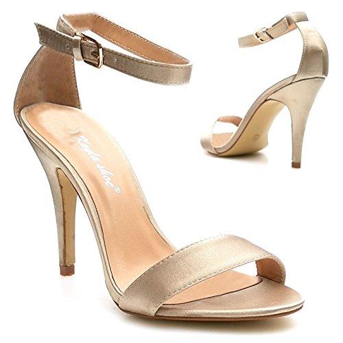 Kayla shoes Damen Elegante Design Stiletto Pumps XY1502P Champagne 40