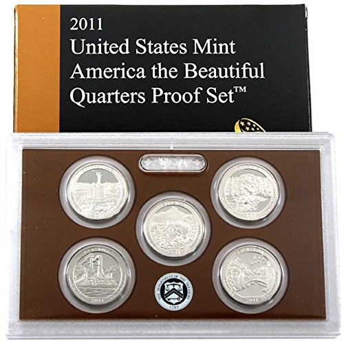 2011 S Clad Proof National Park Quarter Set OGP in box Proof