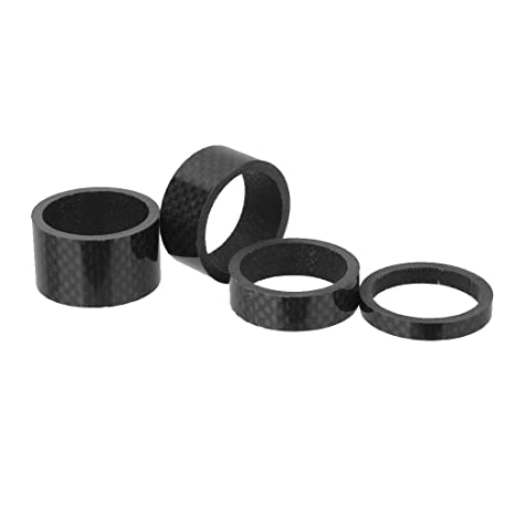 4x Carbon Fiber Bike Bicycle Cycling Stem Headset Spacer Washer 5//10//15//20MM