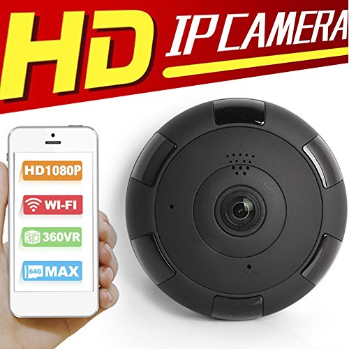 IP Camera Outdoor Wireless with Microphone 3D VR for Home Security Monitor at Night Support TF Card Compatible Android IOS