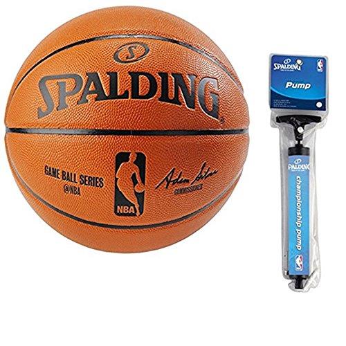 Spalding NBA インドア/アウトドアレプリカゲームボール B072J4R96W  中サイズ + ポンプ