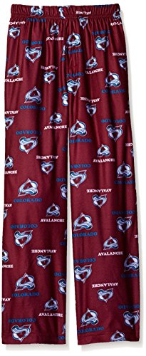 OuterStuff NHL Colorado Avalanche Youth Boys 8-20 Sleepwear All Over Print Pants, X-Large (18), Burgundy (Pants Avalanche Hockey)