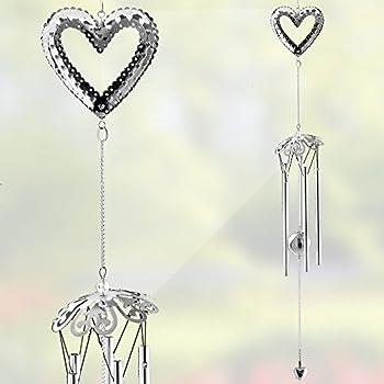 Amazon Com Heart Windchimes Filigree Heart Design And