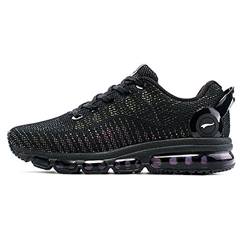 ONEMIX Men's Casual Air Sneakers Colorful Reflections Athletic Sports Running Shoes Black free shipping best wholesale cheap discount cheap sale store clearance top quality sale fast delivery ySSx9RHLCv