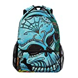 Backpack Colorful Skull Art Mens Laptop Backpacks Hiking Bag School Daypack