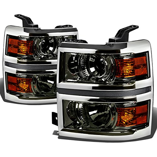 For Chevy Silverado GMT K2XX Smoked Lens Amber Corner Projector Headlight+Corner Light Kit