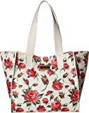 Betsey Johnson Womens Work Tote w/ Monogram Lock Floral One Size