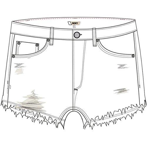 Roxy Women's Rock Crossing White Denim Shorts, Sz.25,White