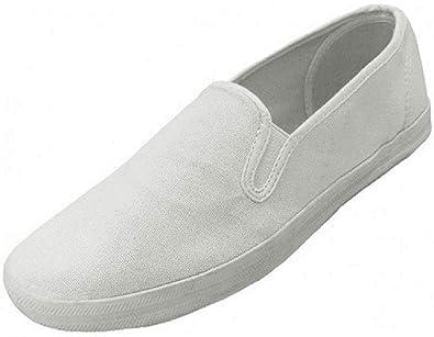 men's all white slip on shoes