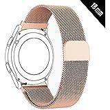 Antube 18mm Women Men Milanese Loop Mesh Stainless Steel Metal Watch Band Bracelet Strap for Huawei Watch, LG Watch Style, Nokia Withings Steel HR 36mm Smartwatch (Rose Gold)