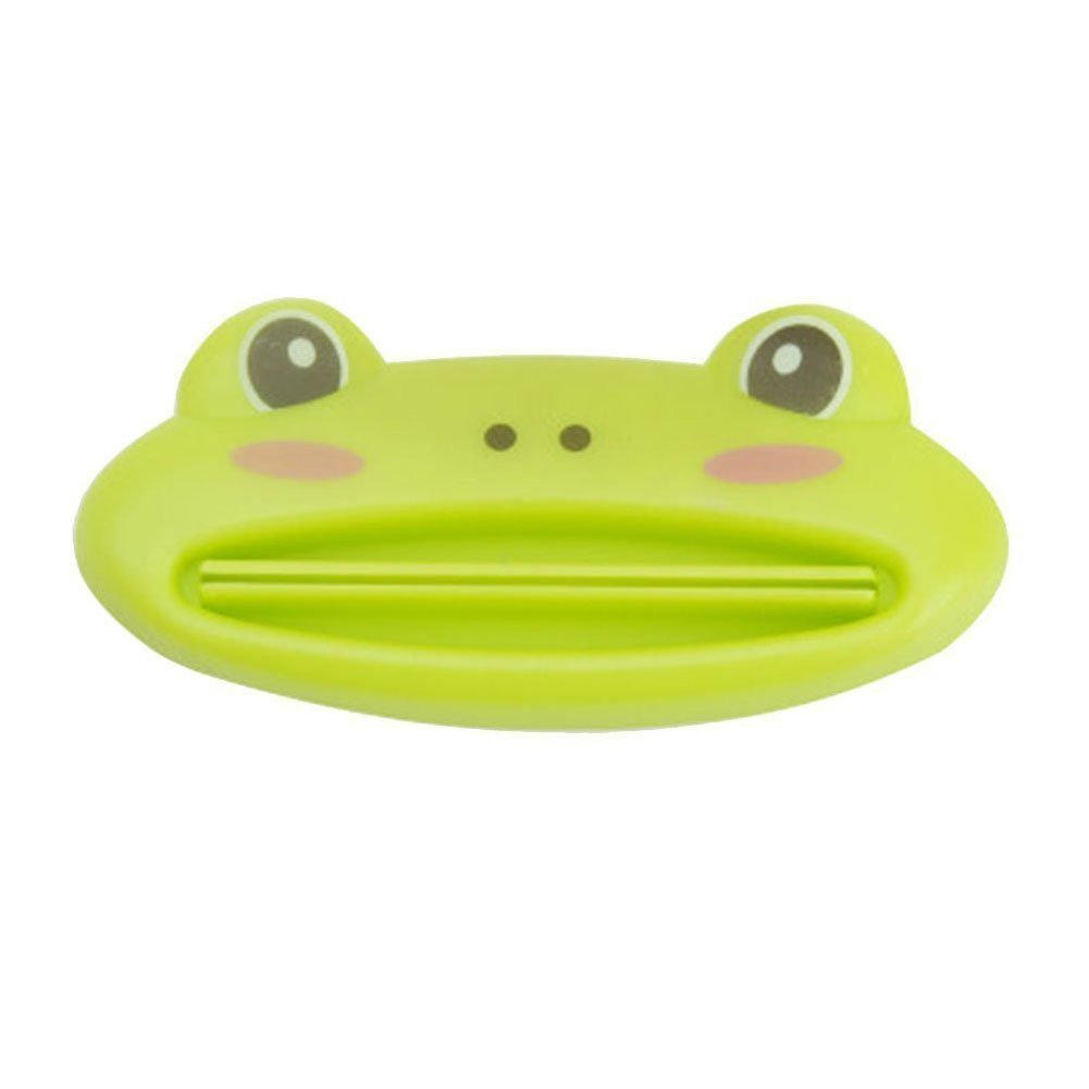 Cartoon Cute Animal Toothpaste Tube Squeezers Clip Rolling Holder Dispenser Green Frog 5pcs Cosplay Costumes