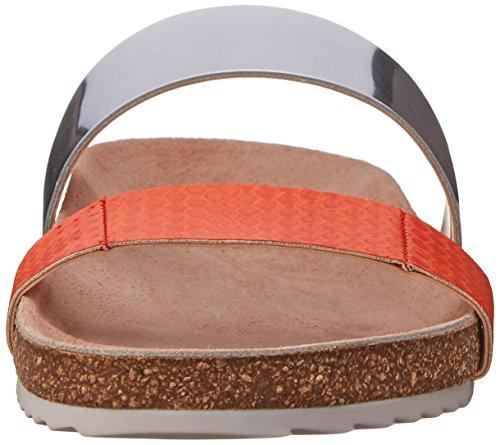 Tangerine White Women's Silver Sandal Paz Footbed Loeffler Randall nUqWT11X