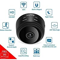 Mini Hidden Camera WiFi, JOYTRIP Wireless Spy Camera HD 1080P IP Spy Cam Home Security Nanny Cam Built-in Battery Hidden Cam with Motion Detection/Night Vision for iPhone/iPad/Android (16G TF Card)