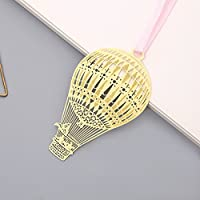 Huasen Cute Hot Air Balloon Bookmark Metal Hollow Paper Clips for Birthday Gift