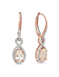 10K Rose Gold Ladies Infinity Dangling Earrings
