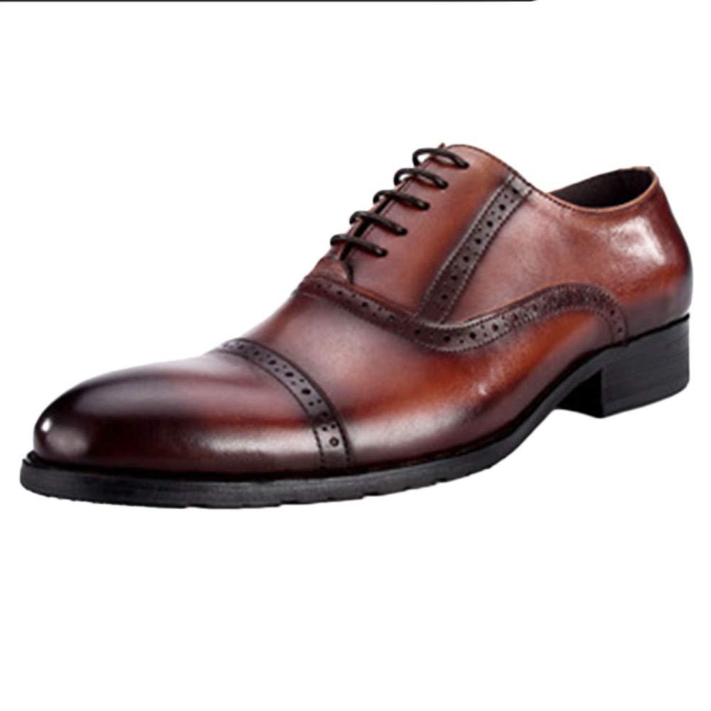 Herr Schuh Braun Hochzeit Lace Up Business Lackleder Anzug Schuhe Wies Business Up Schuhe Rindsleder Brogues Schuhe Braun 70e9de