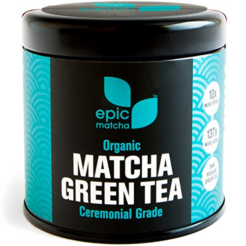 Epic Matcha Organic Matcha Green Tea Powder - Ceremonial - Best Japanese Grade - 100% Happiness Guarantee & Free...