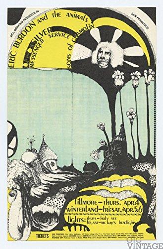 Bill Graham Postcard 114 Eric Burdon Quicksilver Messenger 1968 Apr 4