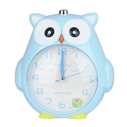 Samtlan Reloj despertador infantil en forma de búho con alarma Snooze y luz de pilas,