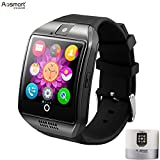 Smart Watch with Camera, Aosmart Q18 Bluetooth Smartwatch with Sim Card Slot Fitness Activity Tracker Sport Watch for Android Smartphones (Black)