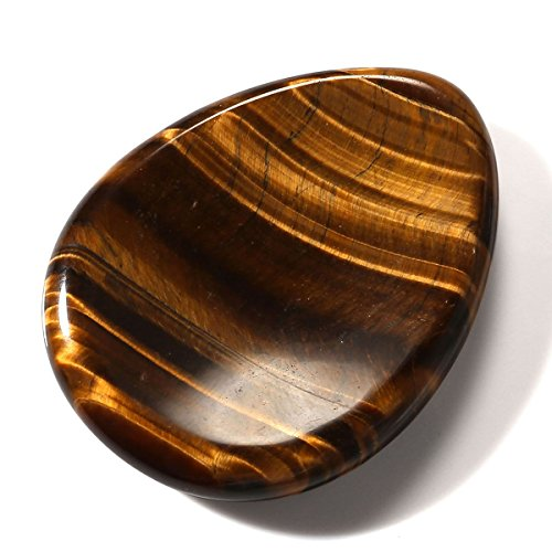 - CrystalTears Tiger's Eye Gemstone Thumb Worry Stone Chakra Healing Pocket Palm Stone Crystals Therapy Geometry